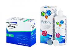 SofLens 38 (6 lęšiai) + valomasis tirpalas Gelone 360 ml