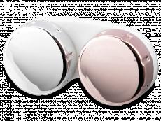 Veidrodinis kontaktinių lęšių dėkliukas - rožinis/sidabrinis
