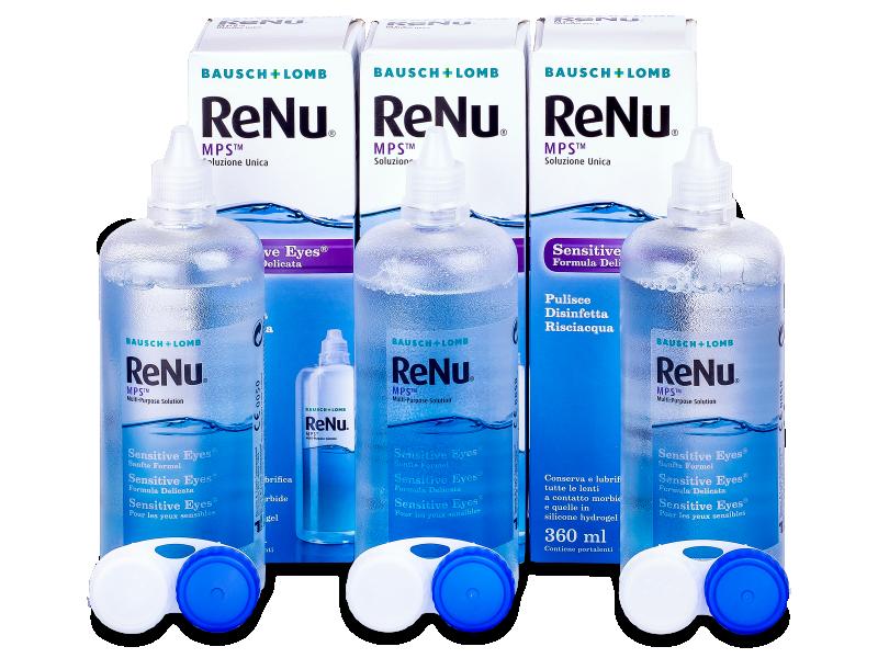 Valomasis tirpalas ReNu MPS Sensitive Eyes 3 x 360 ml