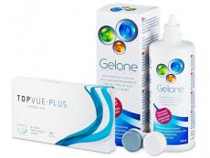 TopVue Monthly Plus (6 lęšiai) +valomasis tirpalas Gelone360ml