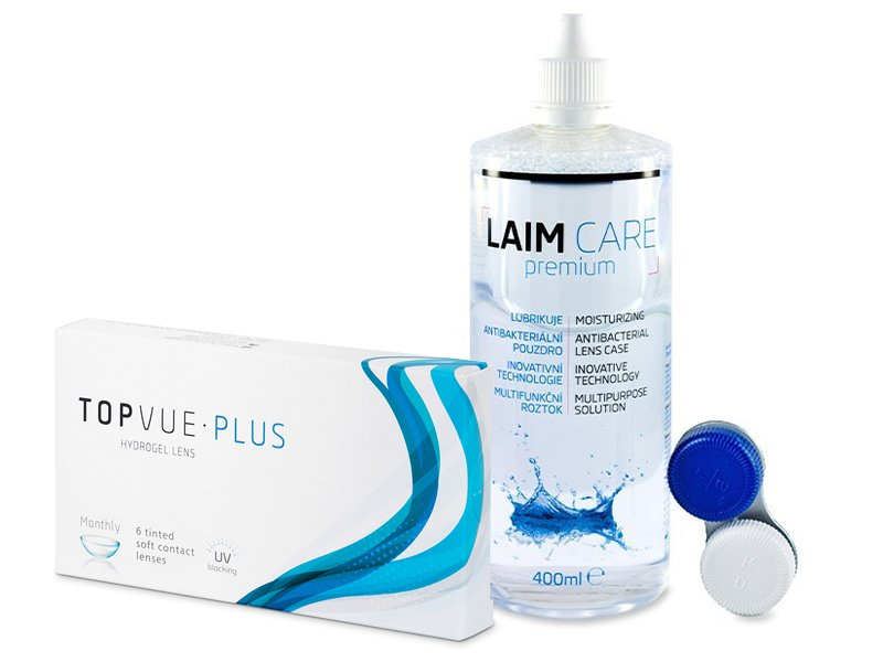 TopVue Monthly Plus (6 lęšiai) + valomasis tirpalas Laim-Care 400 ml
