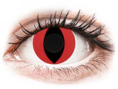 CRAZY LENS - Cat Eye Red - vienadieniai be dioptrijų (2 lęšiai)
