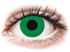 CRAZY LENS - Emerald Green - vienadieniai su dioptrijomis (2 lęšiai)