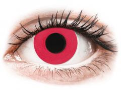 CRAZY LENS - Solid Red - vienadieniai su dioptrijomis (2 lęšiai)