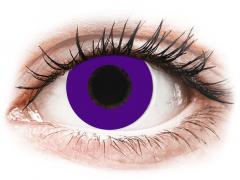 CRAZY LENS - Solid Violet - vienadieniai su dioptrijomis (2 lęšiai)