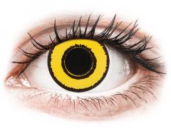 CRAZY LENS - Yellow Twilight - vienadieniai su dioptrijomis (2 lęšiai)
