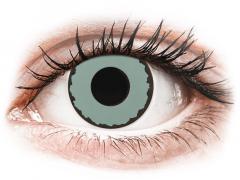 CRAZY LENS - Zombie Virus - vienadieniai su dioptrijomis (2 lęšiai)