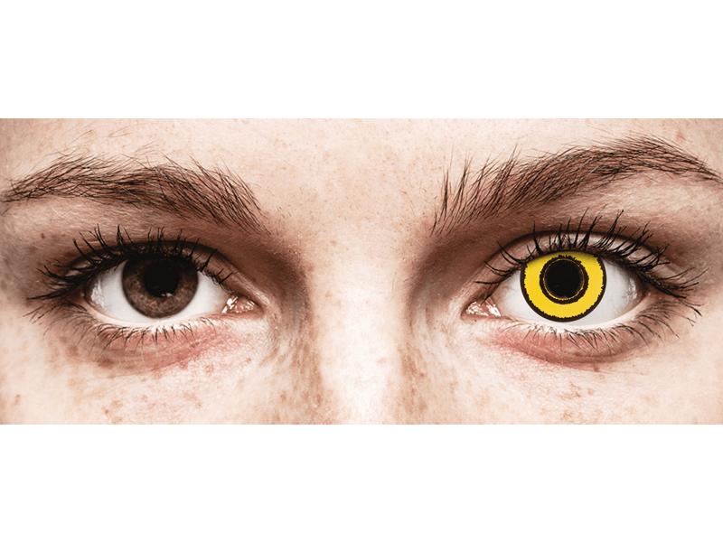 CRAZY LENS - Yellow Twilight - vienadieniai be dioptrijų (2 lęšiai)
