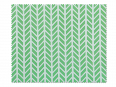 Šluostė akinių valymui - žalia su baltais ornamentais