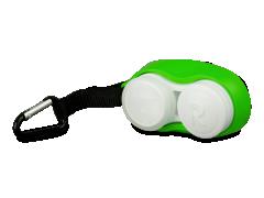 Lęšių dėkliukas su karabinu - žalias