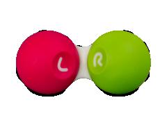 Dėkliukas kontaktiniams lęšiams - rožinė ir žalia