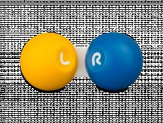 Dėkliukas kontaktiniams lęšiams - geltona ir mėlyna
