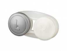 Antibakterinis lęšių dėkliukas - pilkas