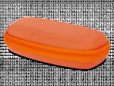 Vaikiškas užtraukiamas akinių dėklas - oranžinis