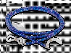 Mėlyna grandinėlė akiniams - su karoliukais