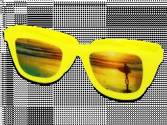 OptiShades lęšių dėkliukas - geltonas