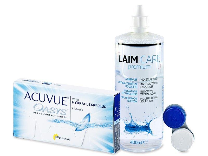 Acuvue Oasys (6lęšiai) +valomasis tirpalas Laim-Care 400 ml